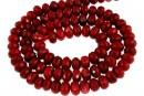 Coral, rosu, rondela fatetata , 6x4mm