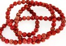 Sediment jasper, red, round, 4.5mm