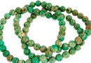 Sediment jasper, green, round, 4.5mm