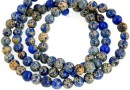 Sediment jasper, blue, round, 4.5mm