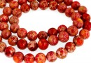 Sediment jasper, red- yellow, round, 8.5mm