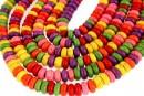 Multicolor magnesite, rondelle, 8x4mm