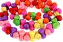 Multicolor magnesite, hourglass, 14x8mm