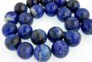 Natural lapis lazuli, round, 18mm
