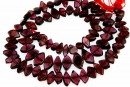 Red garnet, free form, 7-11mm
