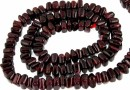 Red garnet, flat square, 5-5.5mm