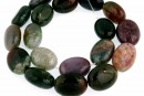 Indian agate, oval, 20x15mm
