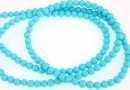 Synthetic resin, turquoise, 3mm