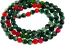 Agate, multicolor, faceted round, 4mm