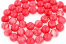 Synthetic resin, rhodocrozite imitation, round, 6mm