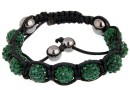 Bratara cu 9 margele shamballa emerald- x1