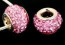 Margele european style, shamballa, rose, 12mm - x1