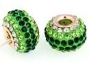 Margele european style, shamballa, emerald, 16mm - x1