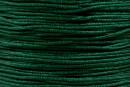 Snur matase verde intens pentru bratari, 1mm - x30m