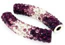 Margele shamballa, tub, purple-crystal, 46x10mm - x1