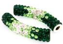 Margele shamballa, tub, emerald-crystal, 46x10mm - x1
