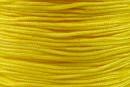 Bobina snur matase pentru bratari, galben, 0.8mm - x100m