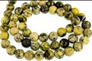 Yellow turquoise, round, 4.5mm