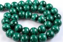 Malachite, natural stone, round, 11mm