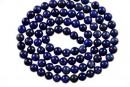 Natural lapis lazuli, round, 4mm