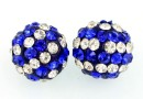 Margele shamballa, crystal-cobalt blue, 10mm - x2