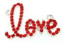 Link metalic, love, 42x32mm - x1