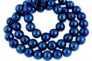 Cobalt blue hemalyke (hematit), round, 6mm