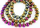 Multicolor hemalyke (hematit), round, 4mm
