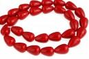 Perle Mallorca, picatura, rosu, 12x9mm