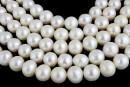 Perle de cultura - 8.5mmx7.5-8mm, alb