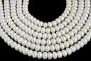 Perle de cultura - 6.5x3.5mm, alb