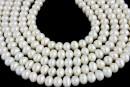 Perle de cultura - 6.5-7.5mmx5.5mm, alb