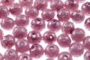 Perle sticla efect, mov lila, 10mm - x30
