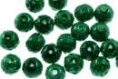 Perle sticla efect, verde, 10mm - x30