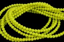 Lime yellow agate, round, 3mm