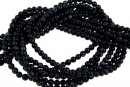 Blue goldstone, round, 3mm