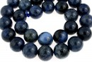 Dumortierite, round, 12mm