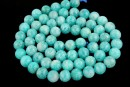 Peruvian amazonite, natural, round, 6mm