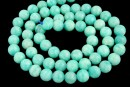Peruvian amazonite, natural, green sea, round, 6mm
