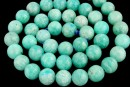 Peruvian amazonite, natural, green sea, round, 8mm