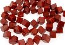 Red jasper, cube, 8x6mm