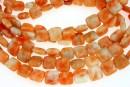 Orange calcite, flat square, 10x10mm