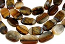 Multicolor tiger eye, free form, 13-16mm