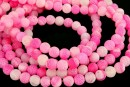 Frosted agate, pink, round, 6mm