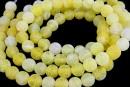 Frosted agate, lime yellow, round, 8mm
