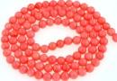 Margele coral, roz, rotund, 4mm