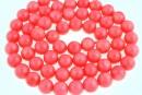 Margele coral, roz, rotund, 6.5mm