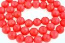 Margele coral, roz intens, rotund, 9mm