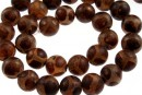 Natural tibetan style agate, round , 14mm