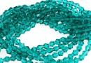 Margele cristal, biconic fatetat, verde smarald, 4mm